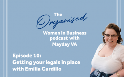 Episode 10 – Getting your legals in place with Emilia Cardillo